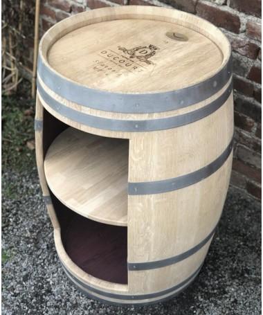 Weinfass Bar mit schmaler Öffnung und Einlegeboden, natur