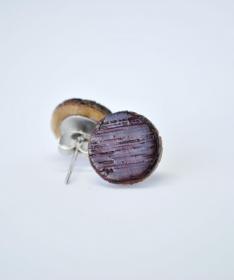 Ohrstecker aus Weinfass Holz