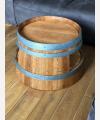 Weinfass Couchtisch mit Einlegeboden geölt
