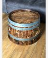 Weinfass Couchtisch mit Einlegeboden rustikal