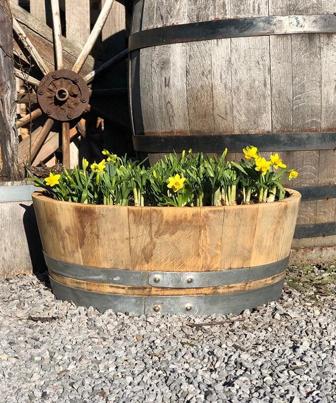 Blumenkübel 1/4 Weinfass