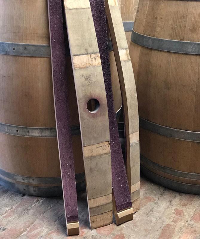Fassdauben aus Rotwein Weinfass