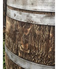 Gebrauchtes Weinfass 225l gesandstrahlt, lasiert