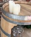 Weinfass Bar, ganzes Fass, große Öffnung