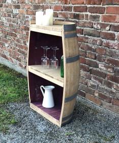 Weinfass Regal Oberfläche natur