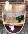 Weinfass Regal mit großer Öffnung