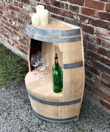 Weinfass Regal mit Rückwand und Einlegeboden