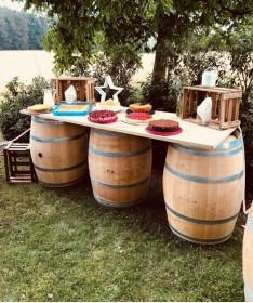 Anwendungsidee für gebrauchte Weinfässer