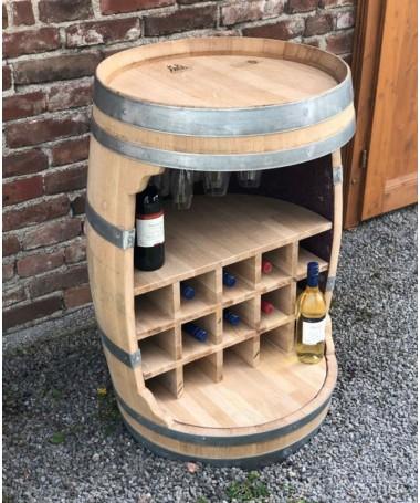 Weinfass Bar mit Flaschenhalter und Einlegeboden