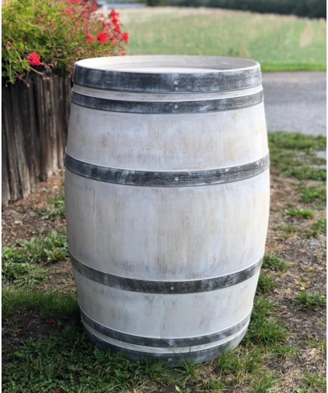 Gebrauchtes Weinfass 225l, shabby white