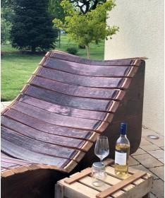 Weinfass Gartenliege aus Fassdauben