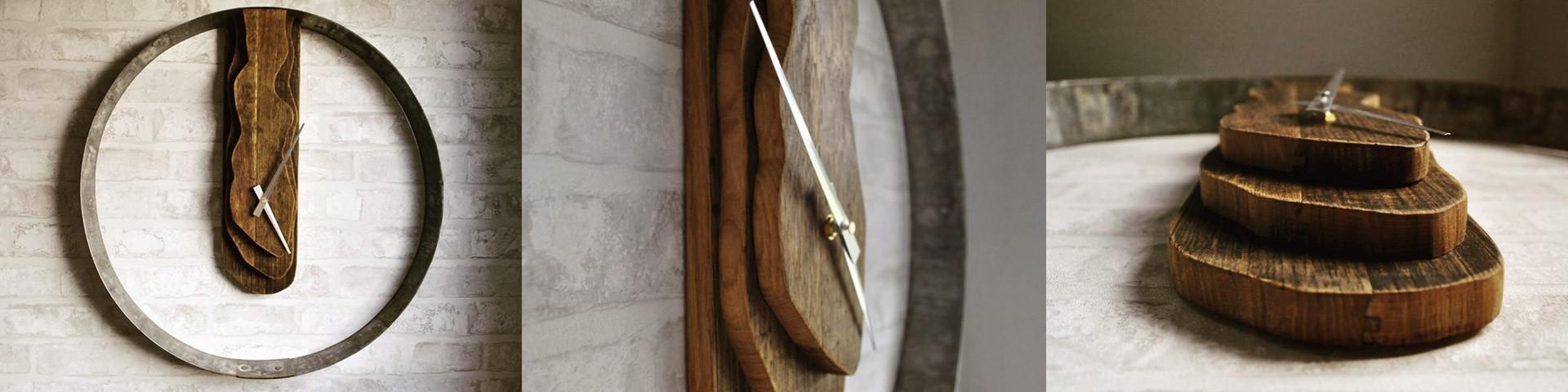 Weinfass Uhr aus Fassdauben